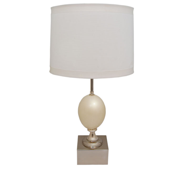 Contemporary Ostrich Egg Table Lamp Art Deco Decor