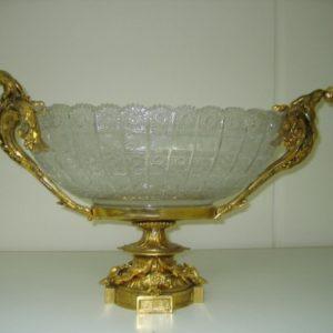 Triple Dolphin Bronze Amp Crystal Centerpiece Bowl Art