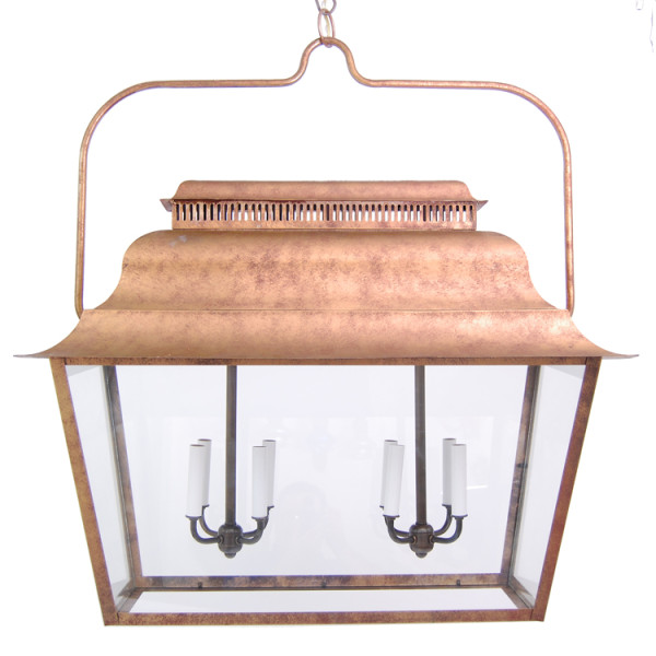 Early American Doghouse Lantern Chandelier