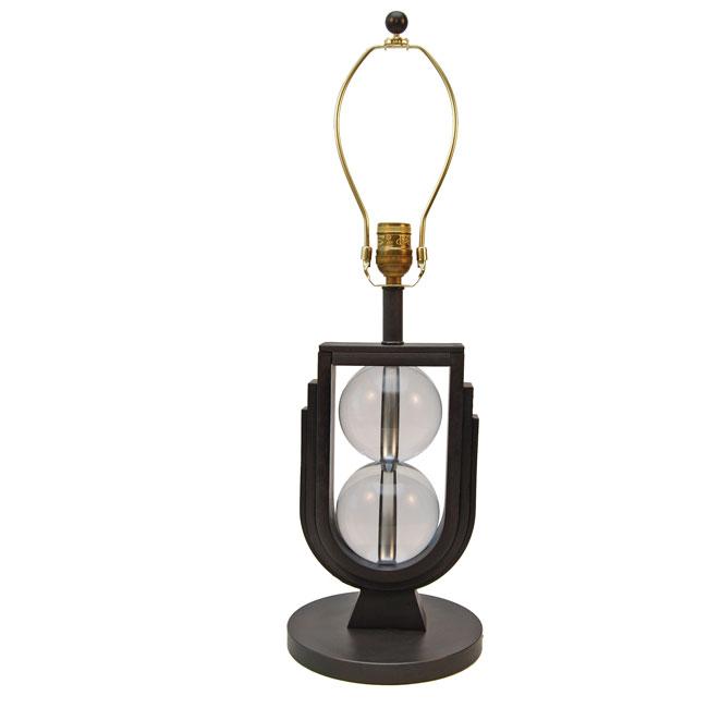 Edgar Brandt Style Wrought Iron Table Lamp Art Deco Decor