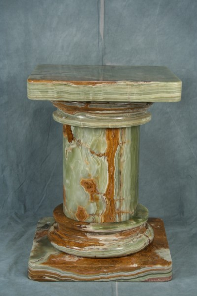 Large Doric Natural Marble Stone Pedestal Art Deco Decor