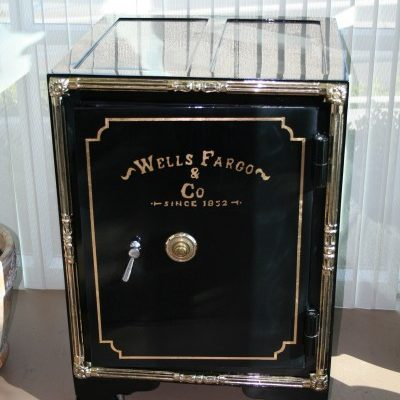 Antique Wells Fargo Safe Art Deco Decor