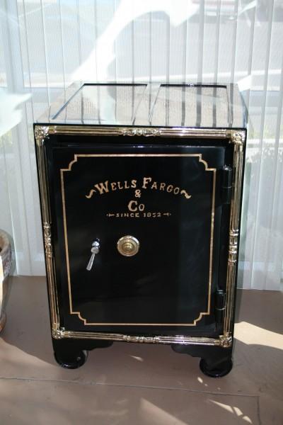 Antique Wells Fargo Safe Art Deco Decor