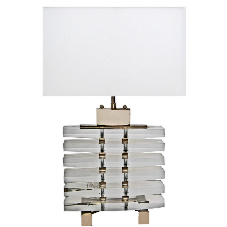 Modern deco acrylic slab table lamp art deco decor aloadofball Image collections