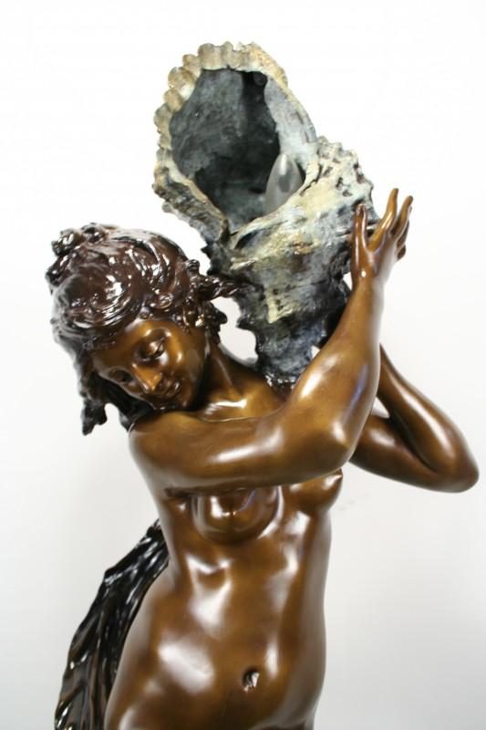 Mathurin Moreau Art Nouveau Bronze Statue Girl Amp Cherub