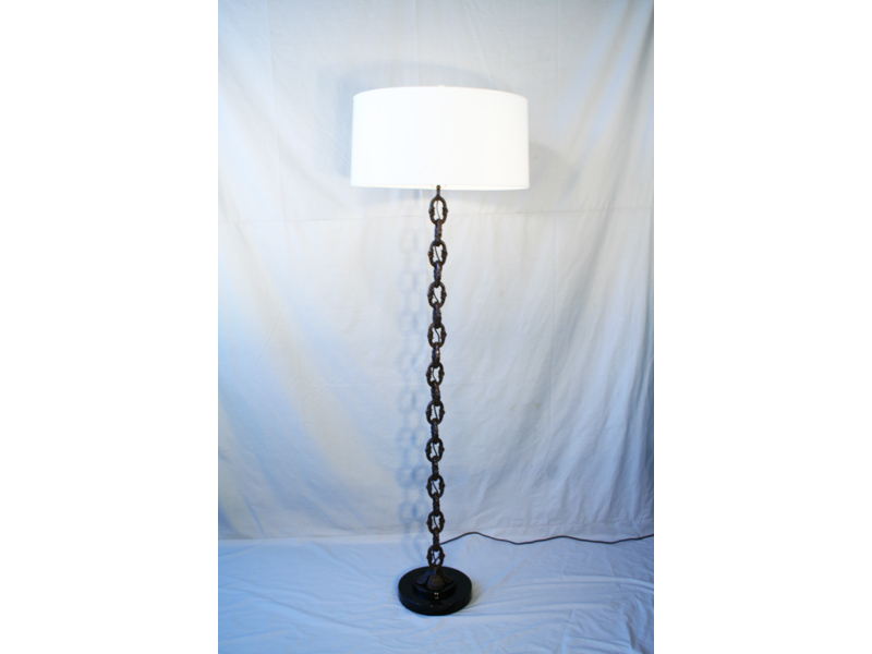 Contemporary Bronze Chain Link Floor Lamp Art Deco Decor