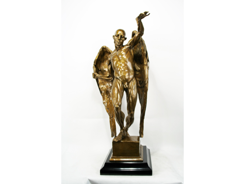 gary chapman modern bronze mephistopheles statue art. Black Bedroom Furniture Sets. Home Design Ideas