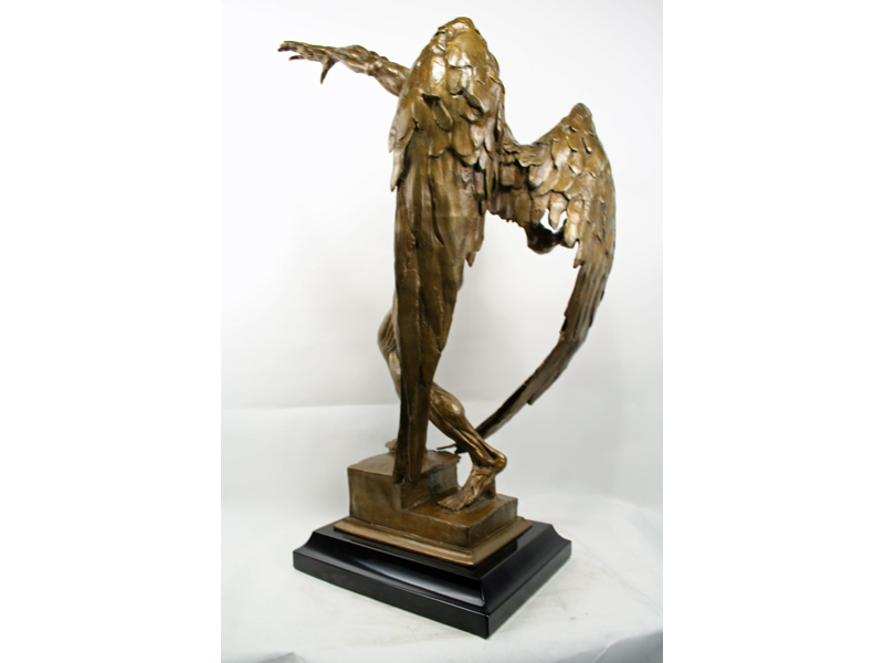 gary chapman modern bronze mephistopheles statue art deco decor. Black Bedroom Furniture Sets. Home Design Ideas