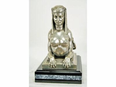 Antique Silver Sphinx Sculpture