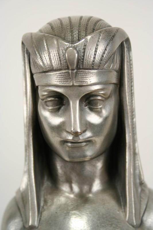 Art Deco Solid Cast Bronze Female Sphinx Statue Art Deco