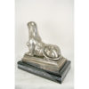 Antique Silver Rear View of Sphinx Sculpture