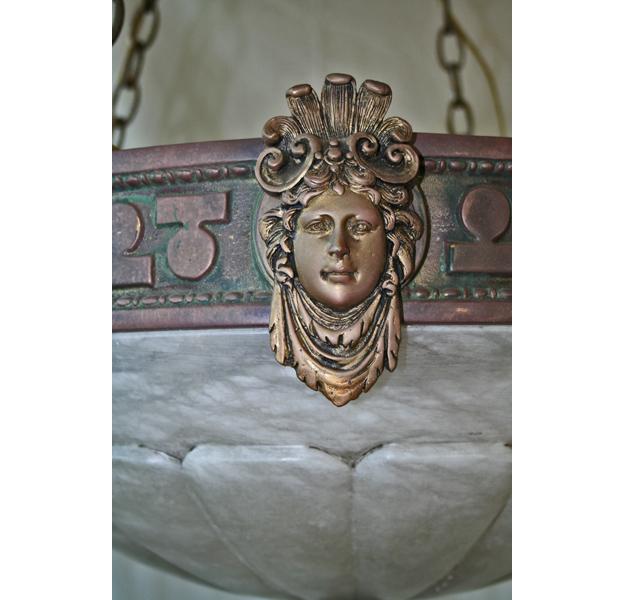 Empire Style Bronze Lady Face 1stdibs Chandelier Art