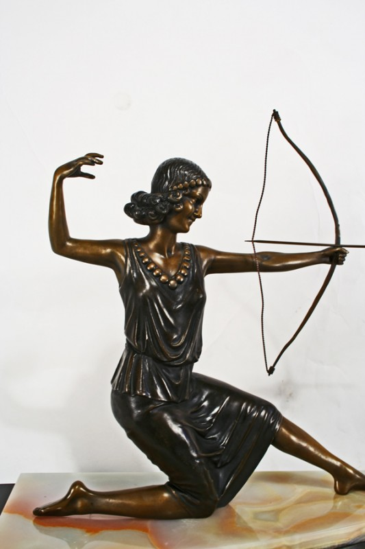 Art Deco Bronze Diana The Archer Statue Art Deco Decor