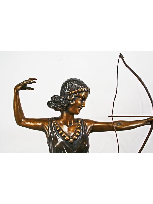 Art Deco Bronze Diana The Archer Statue Art Deco Decor