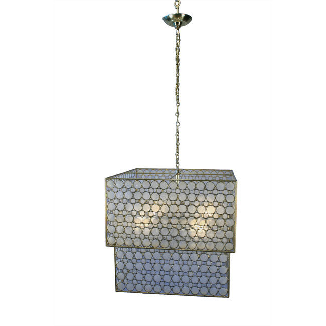 modern brass cube windowpayne oyster capiz shell chandelier 1stdibs