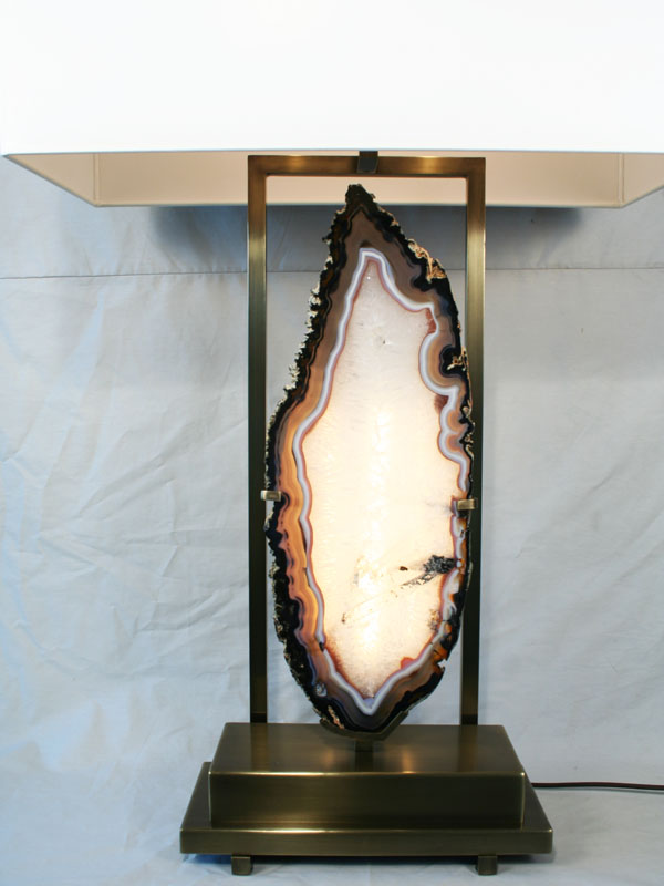 Modern Agate Natural Stone 1stdibs Table Lamp Art Deco Decor