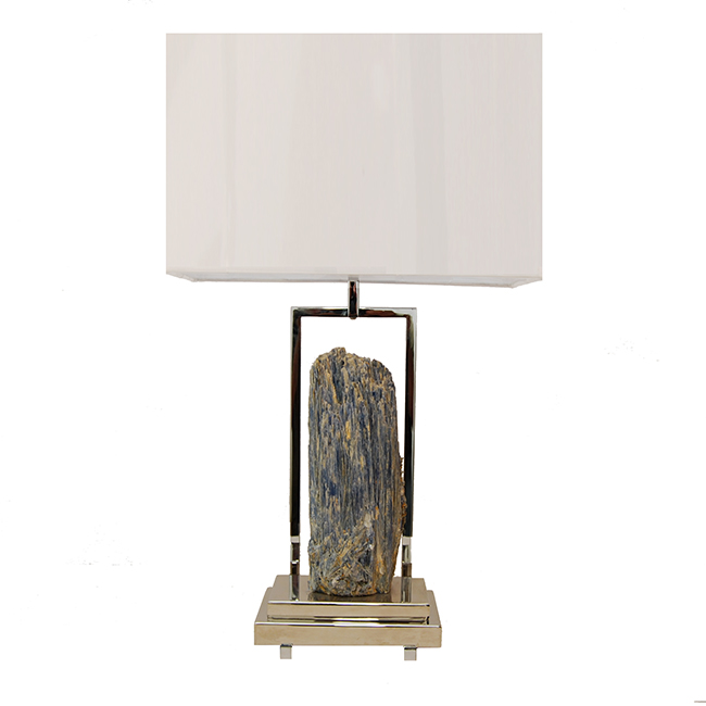 ... Natural Stone Table Lamp. Kyanite Lamp