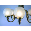 Art Deco Chandelier Frosted Glass Globes
