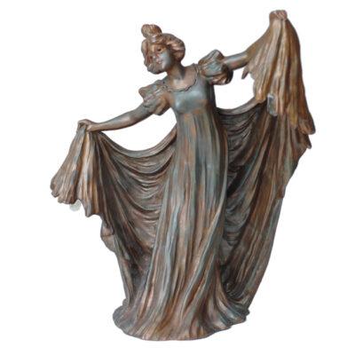 Gustav Gurscner Art Nouveau Lady Lamp