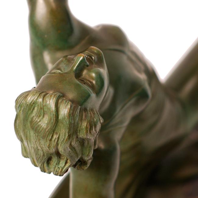G Daverny Antique Art Deco Sculpture Of Diana The Archer