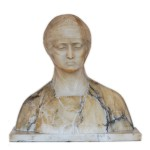 Italian Female Dual Color Stone Bust