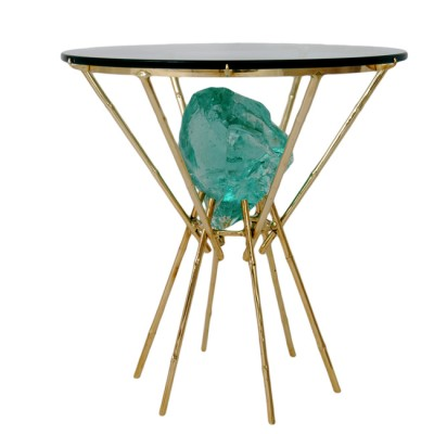 Chunk Glass Bamboo 1stDibs Table