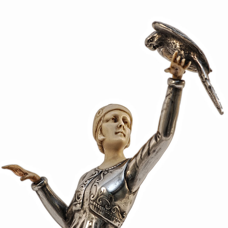 Art Deco Girl With Parrot Figurine By Paul Philippe Art