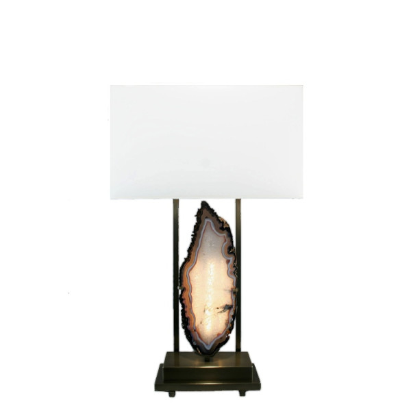 Modern Agate Natural Stone Table Lamp
