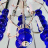 Custom Cobalt Glass Chandelier Candelabra Lights
