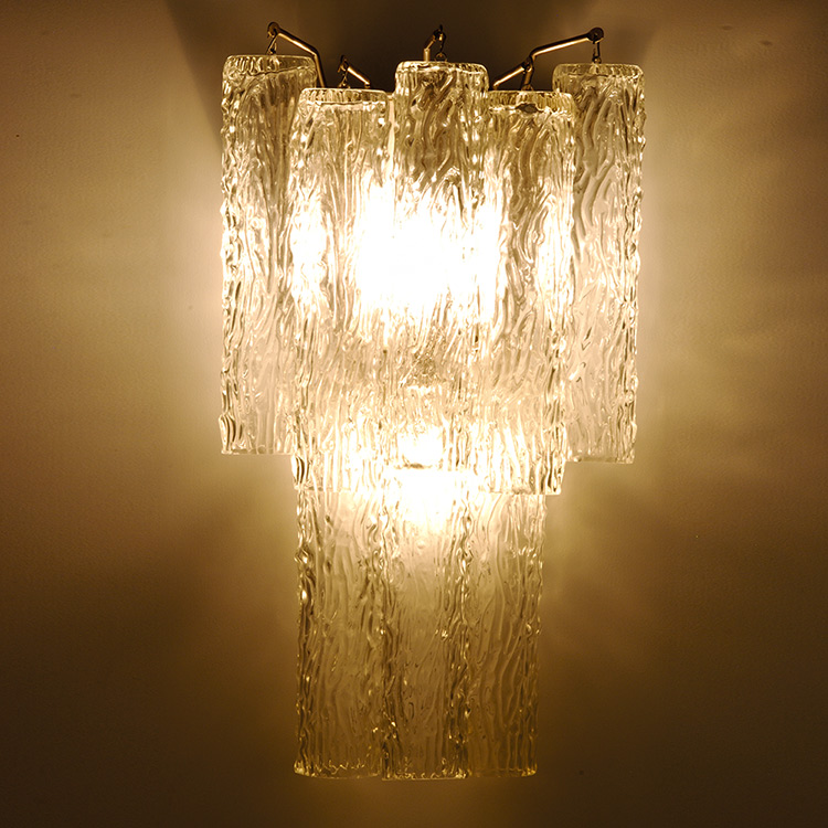 Art Deco Venini Draped Organic Style Glass Wall Sconce